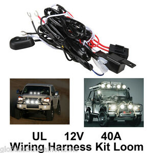 s l300 universal wiring harness kit loom for led work driving light bar universal wiring harness kits at eliteediting.co