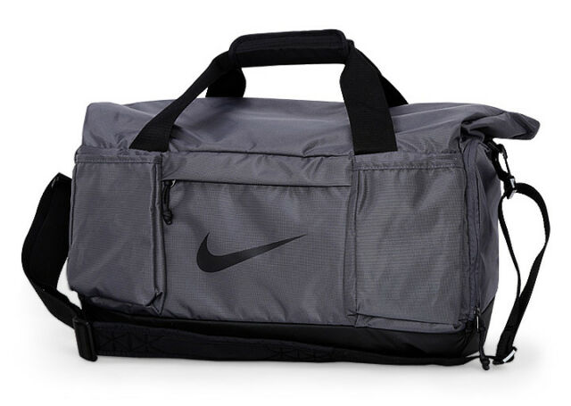 533e266bbd02 Nike Vapor Speed Medium Duffle Bag Backpacks Swoosh Gym Sports Gray  BA5568-004