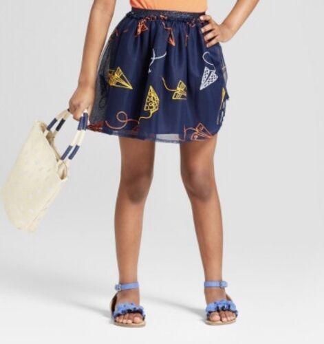 Cat /& Jack Girls Embroidered Paper Airplane Tutu Skirt Elastic Waist Sz XL 14//16