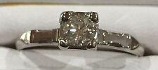 14 K White Gold Diamond Engagement Ring Hallmark Bless #1271