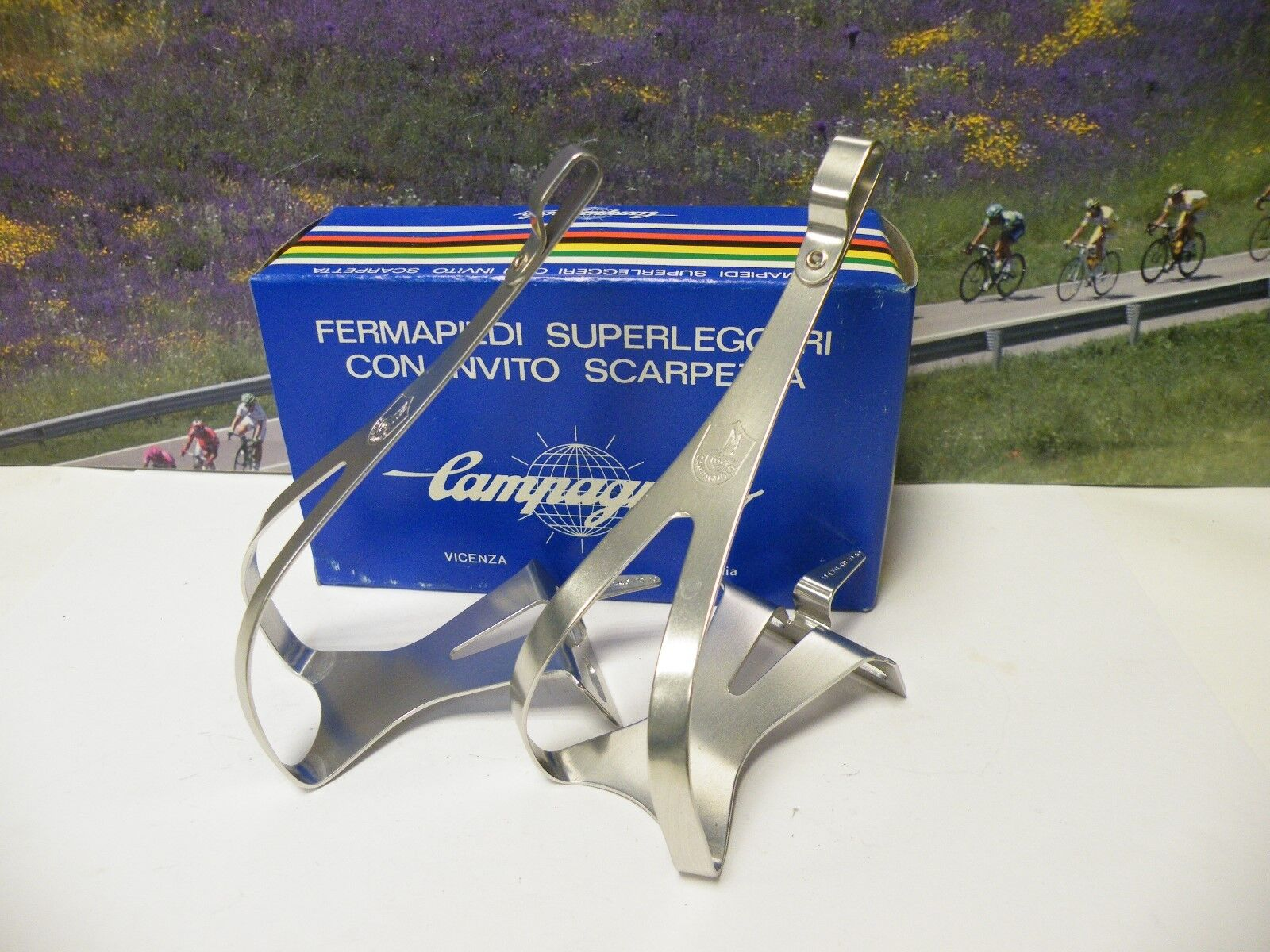 Campagnolo   super record  toeclips in box , size Large ,NOS  for cheap