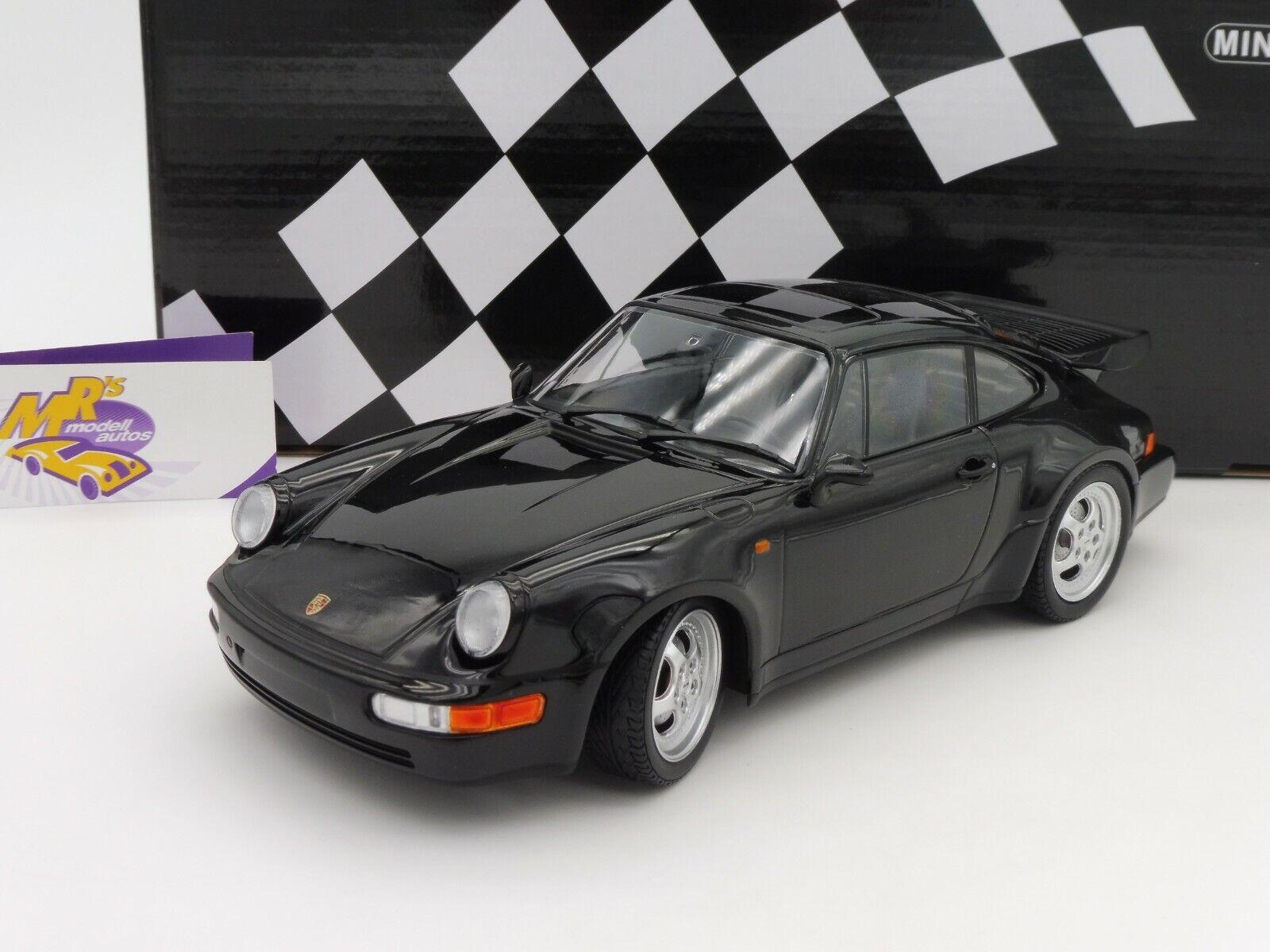 MINICHAMPS 155069104   Porsche 911 Turbo Année de fabrication 1990 in  Noir  1 18 BERLINE ED