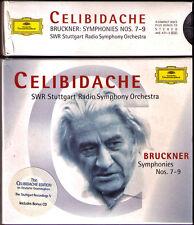 Sergiu CELIBIDACHE: BRUCKNER Symphony No.7 8 9 + Relearsal Schubert No.5 DG 5CD