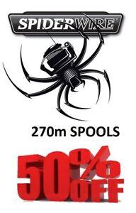 Spiderwire-270m-Spools-SALE-HALF-RRP-Big-Range