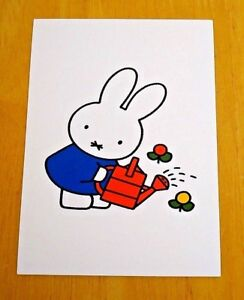 039-WITH-LOVE-FROM-MIFFY-039-POSTCARD-MUMMY-BUNNY-WATERS-THE-FLOWERS-1999-D-BRUNA