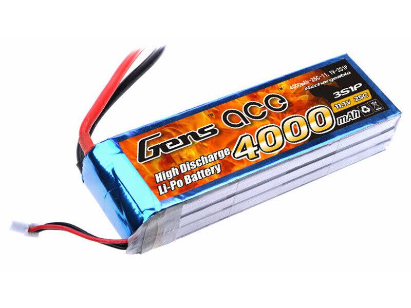 Batteria Lipo Gens Ace 3S 4000mAh 25C 3S1P DA ITALIA