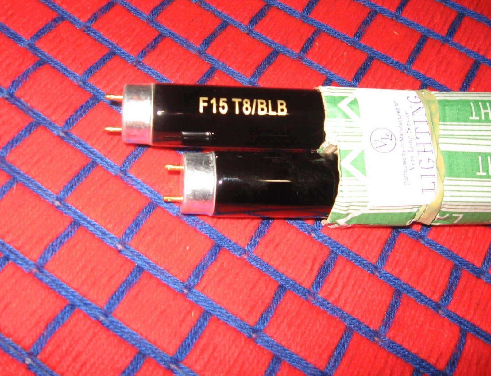 Caja de 6 nuevas Fluorescente F15T8 BLB 18  Negro Azul Claro Bombilla 15w negrolite F15T8