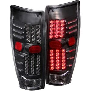 For-2002-2006-CHEVY-AVALANCHE-L-E-D-LED-TAIL-LIGHTS-TAIL-LAMP-BLACK-Pair-LH-RH