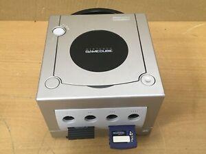 Nintendo GameCube Consola-Plateado (solo Consola) - Probado