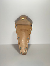 McGuire Nicholas 466V Tape Measure Holder in Tan Saddle Leather