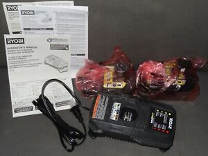 NEW 18-Volt ONE+ Lithium-Ion 3.0 & 2.0 Ah Battery w/ Dual Charger Bundle