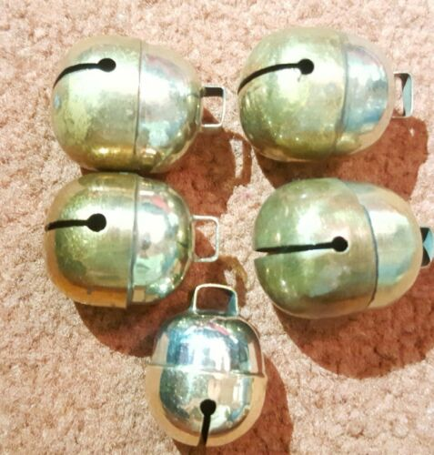 Brass /& Silver Great Sound Dog,Cat Bells Two Tensile Acorn Bell Pair Falconry