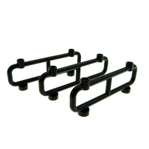 3x Lego Fence Black 1x8x2 Gate Fences Barrier Countryside 4544645 2486