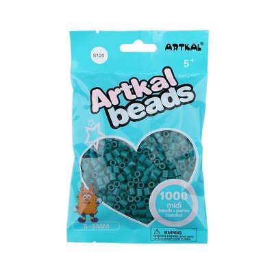 Creativsets Artkal 1000 Midi Bügelperlen 5mm Dark Eucalyptus S126 Fuse Beads Reinweiß Und LichtdurchläSsig