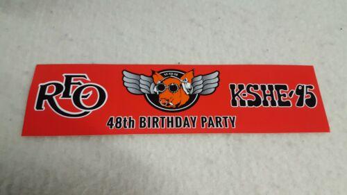 K-SHE K SHE 95 FM Bumper Sticker REO Speedwagon Birthday Party Sweetmeat