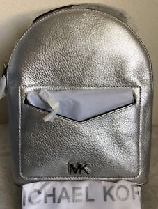 5c0cbfd2fb6b Image is loading NWT-MICHAEL-KORS-Jessa-Small-Metallic-Pebbled-Leather-