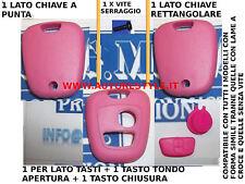 COVER GUSCIO SCOCCA ROSA PER CHIAVE TELECOMANDO 2 TASTO PEUGEOT 206 107 207 307