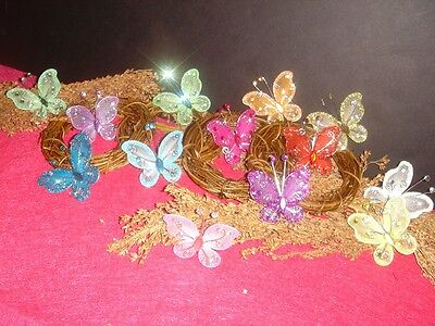 25/50 pcs Adorable nylon butterfly for party favor decoration HB-03