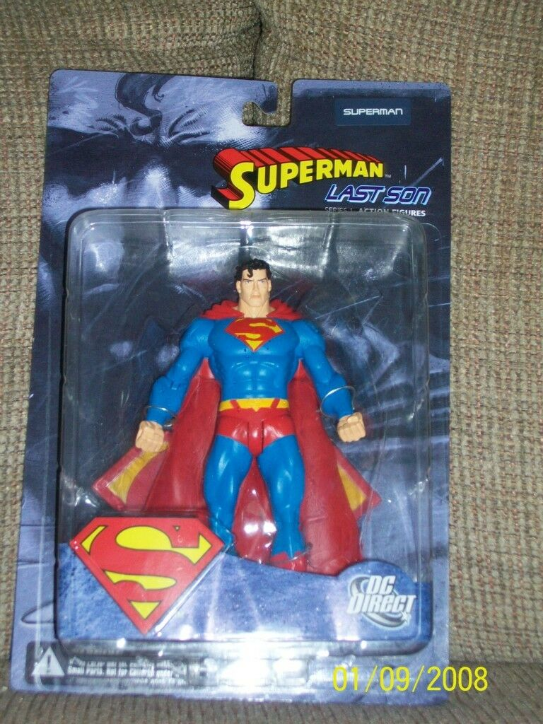DC Direct Superman Last Son JLA  Classified Superman Red and Superman bluee