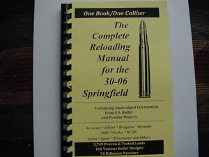 Details about  3006 Caliber Springfield Complete Reloading Manual Load  Books USA 65 Pages