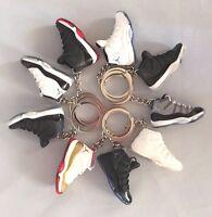 Jordan Retro 11 3d Mini Sneaker Keychain Concord Bred Gamma Blue 72-10 Space Jam