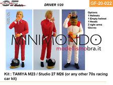 PILOTA F1 DRIVER PLASTIC KIT JAMES HUNT 1/20 GF MODELS 20022