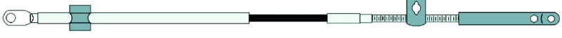 Cable controller teleflex CCX179 TYPE 600A 19ft MERCURY EXTREME