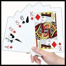 Extra Grande De Plástico naipes Big Jumbo Gigante Juegos Puente Poker grandes no A4