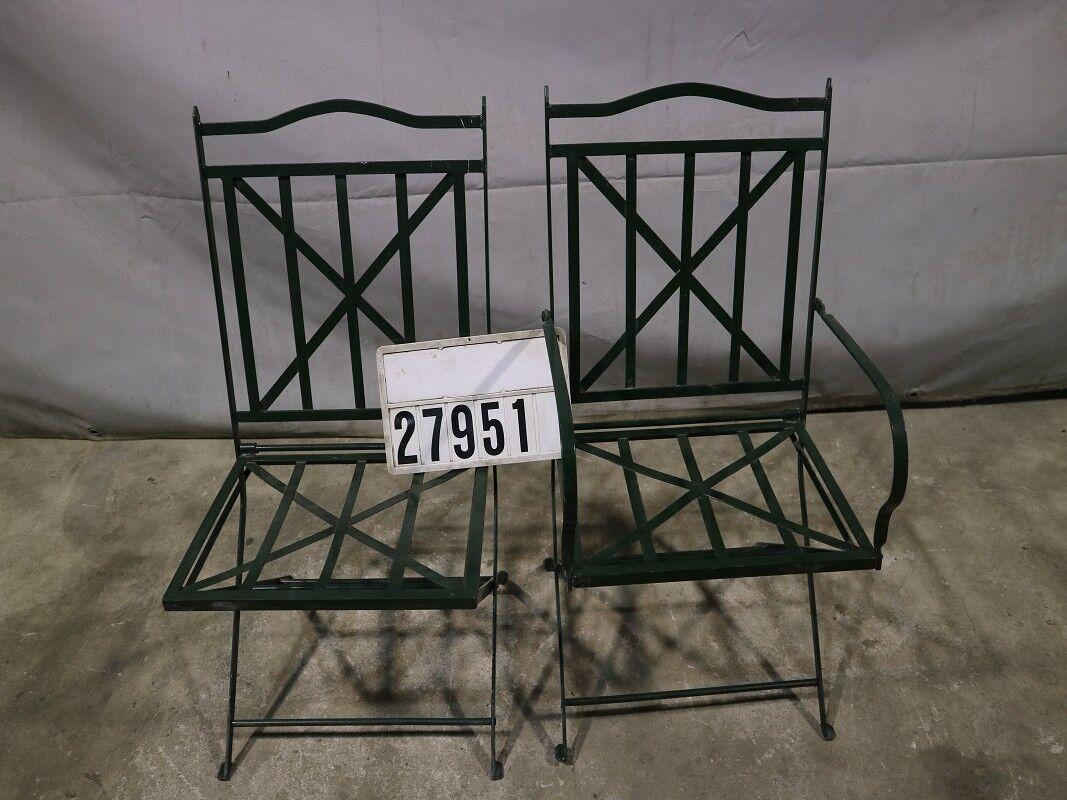 2 piezas acero de diseño silla plegable silla butaca loungsessel Retro Vintage  27951