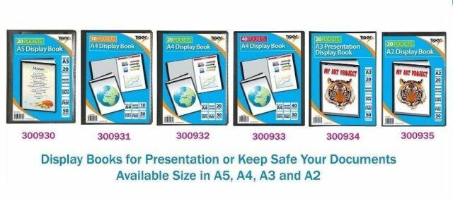 Black Tiger 300930 20 A5 Pocket Presentation Display Book