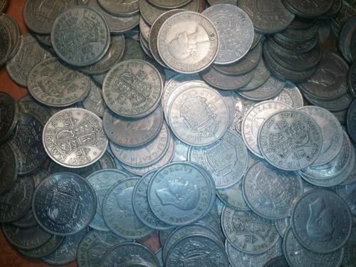 8 coins good half crowns one pound old money