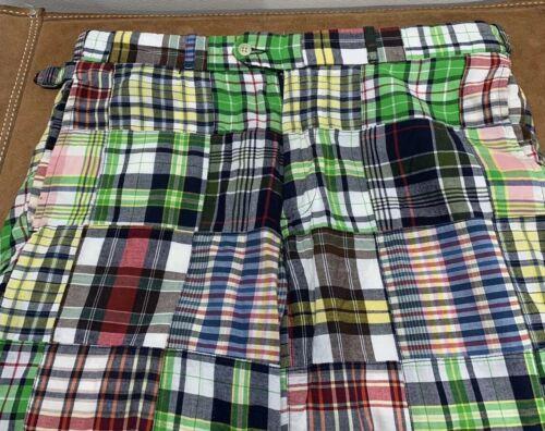 Polo Ralph Lauren Cotton Plaid Patchwork Trousers