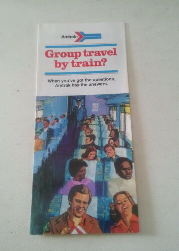 000 Vintage Amtrak Train Brochure 1976? Group Travel by train
