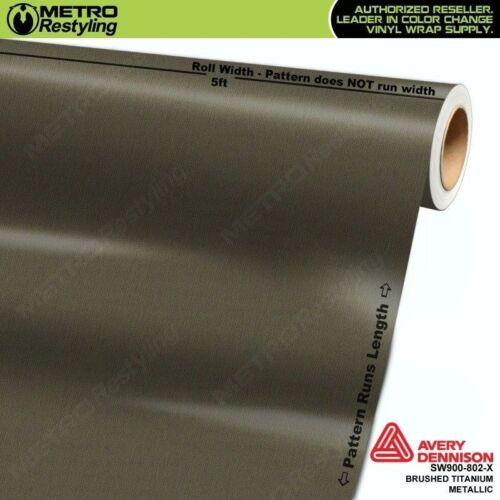 Avery SW900-802-X BRUSHED TITANIUM METALLIC Vinyl Vehicle Car Wrap Sheet Roll