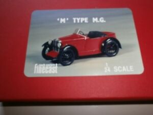 """MG type """"M"""" sports car kit - white metal model to assemble and paint"""