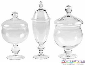 WEDDING-LOLLY-CANDY-JAR-Clear-Glass-Buffet-Scoop-Bag-Apothecary-Party-Bar-Sweets