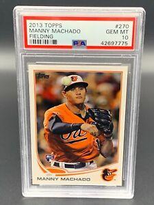 2013 Topps Manny Machado Fielding #270 PSA 10 Gem Mint RC