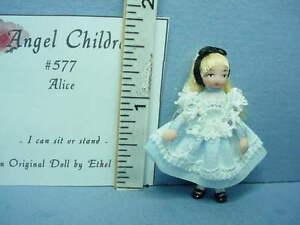 Dollhouse Miniature Ethel Hicks Angel Children Doll - Alice #577