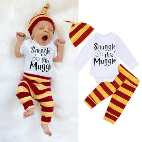 Snuggle This Muggle Newborn Baby Boys Ches Baby Grows Pants Hat Outfits