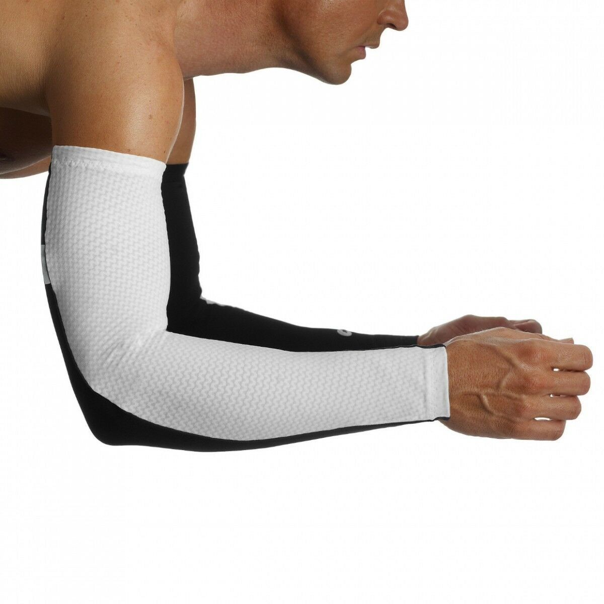 Assos S7 Cycling Arm warmers - White - Size II - RRP .99