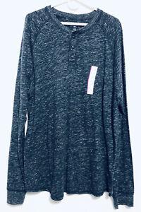 Goodfellow-amp-Co-Long-Sleeve-Henley-Size-XXL-Mens-Dark-Heathered-Gray-Shirt
