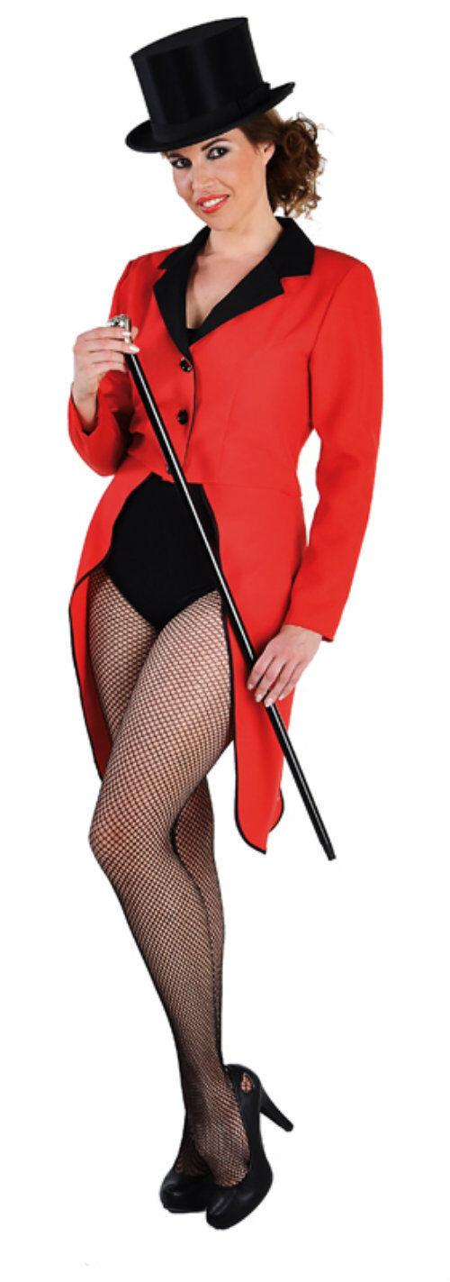 Tailcoat - Red,Circus / Ringmaster / Ladies Showman - sizes 6 - 22