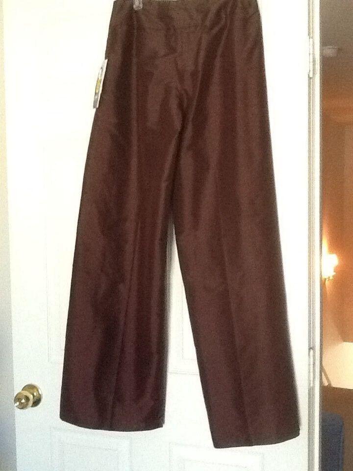 Peter Nygard chocolate brown silk wide leg Pants 8