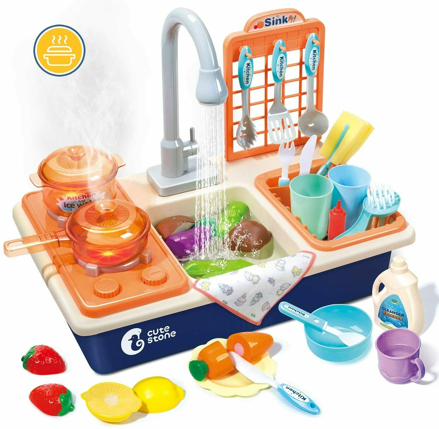 Kids Simulation Kitchen Toys Electronic Cooker Playset Cooking Pretend Role Toy For Sale Online Ebay