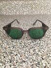 Vintage Vtg Work Tinted Eye Glasses Green Shades Retro Clear Safety Norton Frame