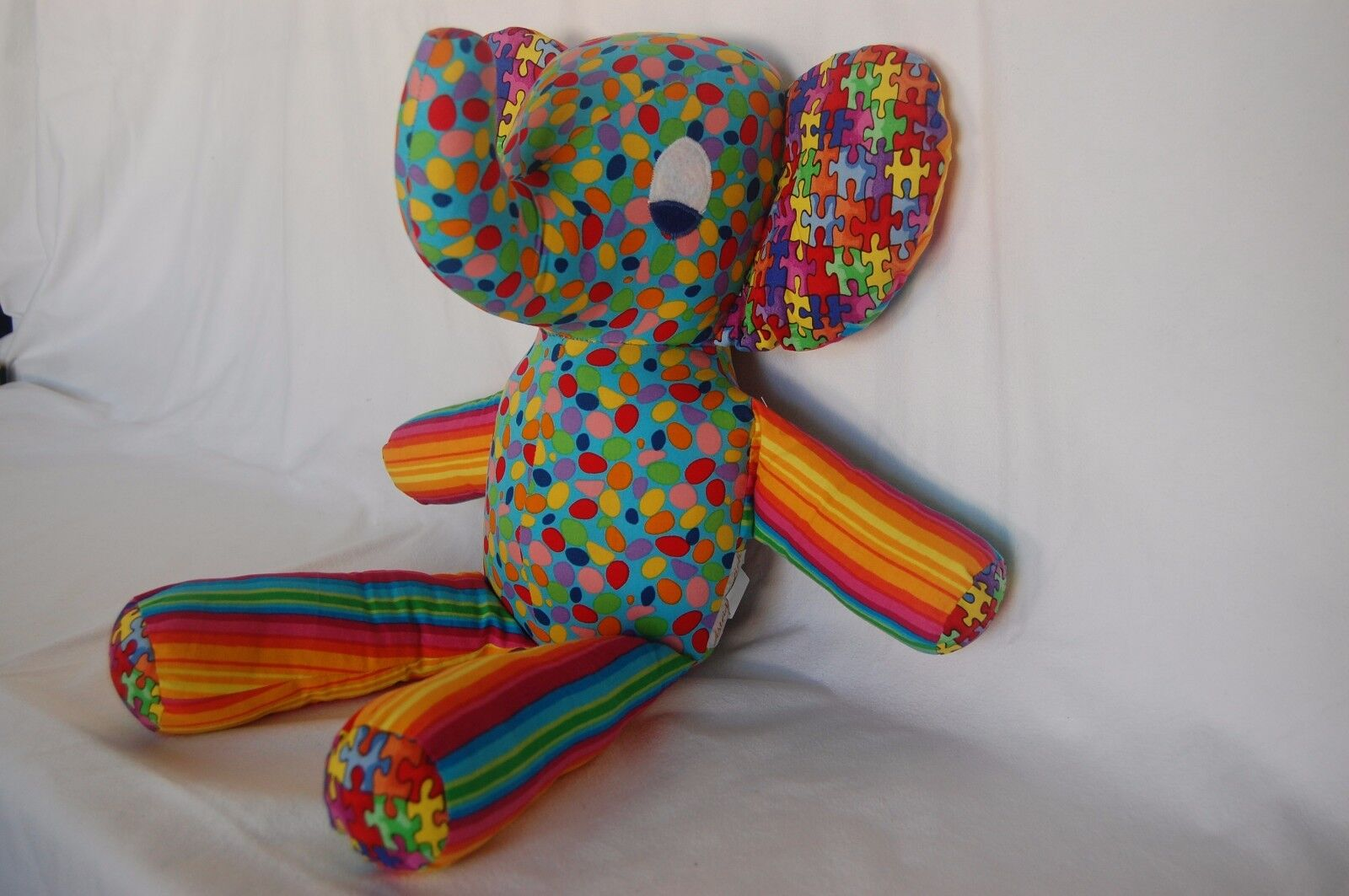 Stuffed Elephant - rainbow  - kids toy for  every age