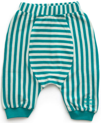 Little Green Radicals Jelly Bean Aqua stripe Joggers trousers  0 3 6 9 12 18 24
