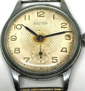 Wostok-Watch-Ussr-17-Jewels-Vintage-Vostok-Wrist-Soviet-Mechanical-Rare-Men-Russ