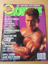 IRONMAN bodybuilding muscle magazine/LEE LABRADA 5-92
