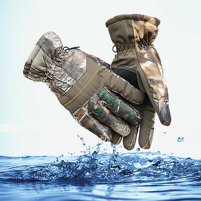 Adults Warm Outdoor Waterproof Windproof  Ski Camouflage Hunting Finger Gloves